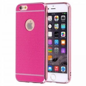 Ovitek soft gel Litchi (magenta) - iPhone 6 / 6S