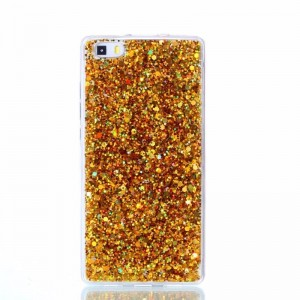 Ovitek soft gel Shiny (gold) - Huawei P8 Lite