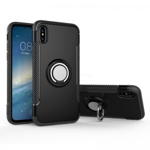 Ovitek soft gel Ring armor (črn) - iPhone X / XS