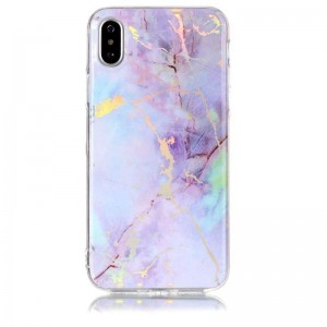 Ovitek soft gel Holo marmor (Rose Gold) - iPhone X / XS