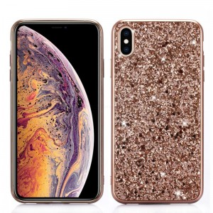 Ovitek soft gel Glitter (Rose Gold) - iPhone XR