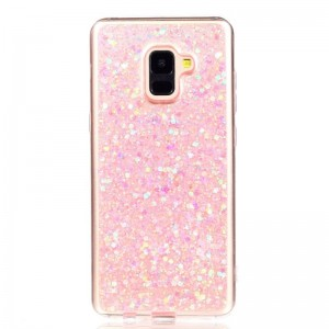 Ovitek soft gel Shiny (roza) - Samsung Galaxy A8 Plus (2018)