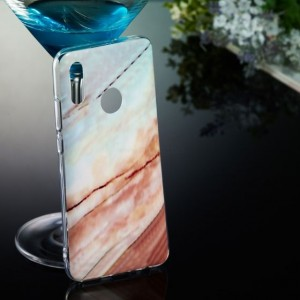 Ovitek Soft gel marmor (bel) - Huawei Honor 10 Lite / P Smart (2019)