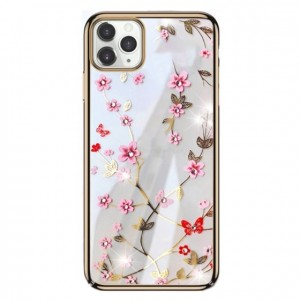 Ovitek soft gel Sulada charming z diamantki (zlat)  - iPhone 11
