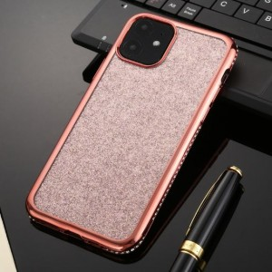 Ovitek soft gel TPU diamantiran (rose gold) - iPhone 11