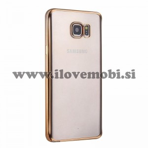 Ovitek soft gel Smooth (gold) - Samsung Galaxy S6 Edge