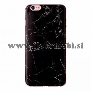 Ovitek soft gel Marmor (črn) - iPhone 6 Plus / 6S Plus
