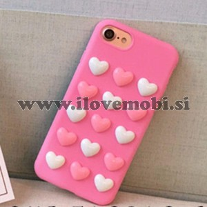 Ovitek soft gel Love Candy 3D (roza) - iPhone 6 / 6S