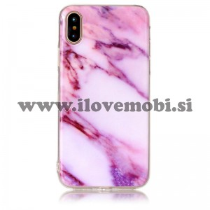 Ovitek soft gel Marmor (pink) - iPhone X
