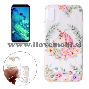 Ovitek soft gel Flower unicorn - iPhone X / XS