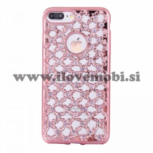 Ovitek soft gel Hollow diamond (Rose Gold) - iPhone 7 Plus / 8 Plus