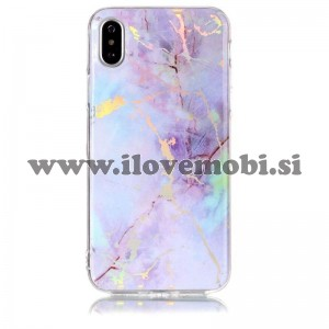 Ovitek soft gel Holo marmor (Rose Gold) - iPhone X