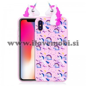 Ovitek soft gel 3D Unicorn doll - iPhone X / XS