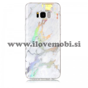Ovitek soft gel Holo marmor (bel - gold) - Samsung Galaxy S8 Plus