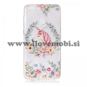Ovitek soft gel Flower unicorn - Huawei P Smart