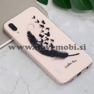 Ovitek soft gel Endless love - Huawei P20 Lite
