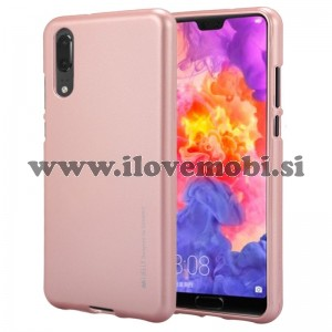 Ovitek soft gel Mercury Goospery Metal (Rose Gold) - Huawei P20