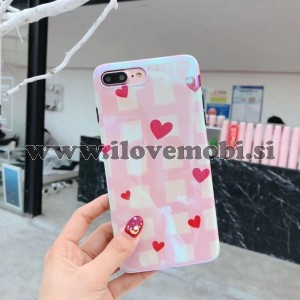 Ovitek soft gel PINK love - iPhone 7 Plus / 8 Plus