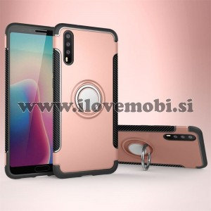 Ovitek soft gel Ring armor (Rose Gold) - Huawei P20