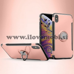 Ovitek Ring armor (Rose Gold) - iPhone XS Max