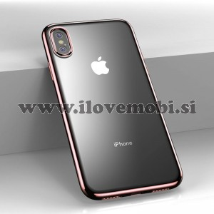 Ovitek soft gel Benks Barvna obroba (Rose Gold) - iPhone XS Max
