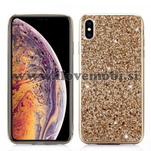 Ovitek soft gel Glitter (gold) - iPhone XS Max