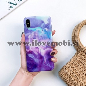 Ovitek soft gel Glossy marble (universe) - iPhone XS Max