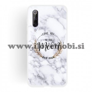 Ovitek soft gel Love you to the Moon and back (belo črn) - Xiaomi Mi 9 SE