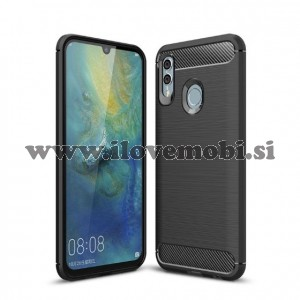 Ovitek soft gel TPU Carbon fiber tekstura (črn) - Huawei Honor 10 Lite / P Smart (2019)