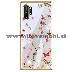 Ovitek soft gel Sulada charming z diamantki (zlat)  - Samsung Galaxy Note 10