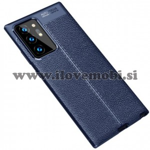Ovitek soft gel TPU Litchi tekstura (moder) - Samsung Galaxy Note 20 Ultra / Note 20 Ultra 5G