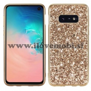 Ovitek soft gel TPU Shiny (zlat)  - Samsung Galaxy S10 Plus