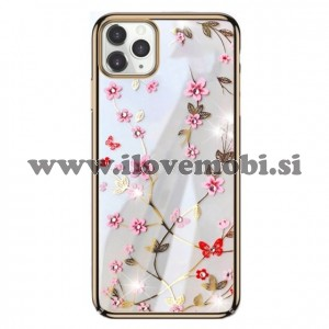 Ovitek soft gel Sulada charming z diamantki (zlat)  - iPhone 11 Pro